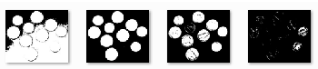A gray scale image converted to a sequence of binary images, a filtration