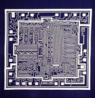 a microchip - very complex structure that is hard to analyze with a naked eye